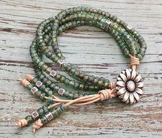Wrap Bracelet/Leather Wrap Bracelet/Wrap Jewelry/Country Girl