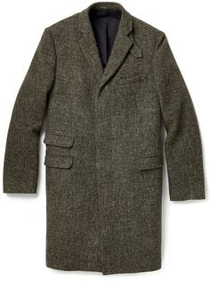 $339, Olive Overcoat: Mr Start Soft Overcoat. Sold by East Dane. Click for more info: https://lookastic.com/men/shop_items/86397/redirect