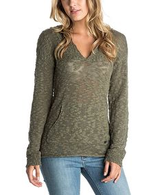 Look at this Dusty Olive Warm Heart Sweater on #zulily today!