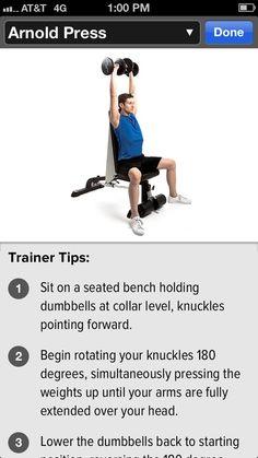 Arnold Press shoulder workout #shoulders #gainfitness Download the GAIN Fitness app for HD motion instructions.