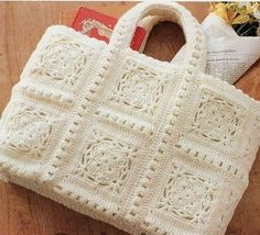 Crochet Handbag - Free Crochet Diagram - (woman7)                                                                                                                                                     More