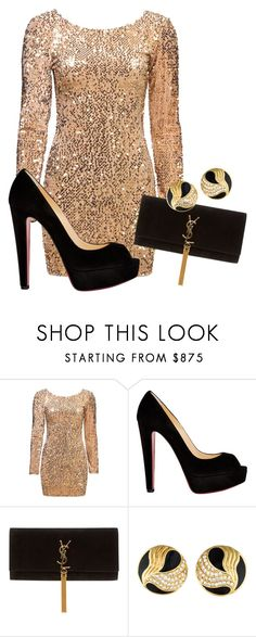 """Untitled #412"" by slythergirl on Polyvore featuring Christian Louboutin and Yves Saint Laurent"