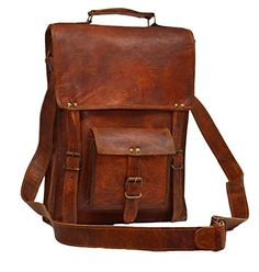Amazon.com  Messenger of Leather Vintage Leather Laptop Bag for Men and  Women. 11