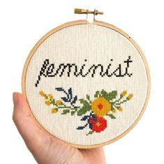Feminist Cross Stitch Pattern
