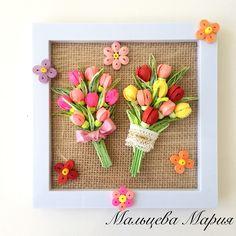 Quilling букет tulips