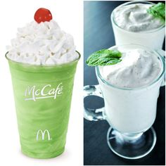 Yummy shamrock shake that is soooo much better for you than McDonalds!