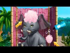 Jungle Animal Hair Salon - Bath Makeup Dress Up Fun Children Games