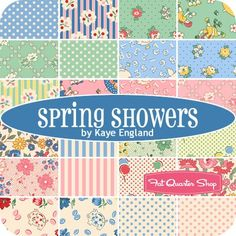 Spring Showers YardageKaye England for Wilmington Prints | Fat Quarter Shop