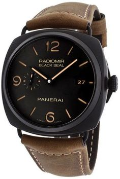 Panerai Radiomir Composite Black Seal 3 Days Men's Automatic Watch – Panerai Radiomir, Panerai Watches, Breitling, Luxury Watch Brands, Luxury Watches For Men, Skeleton Watches, Pre Owned Watches, Automatic Watches For Men, Fine Watches