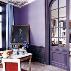 The perfect counterpoint to a lavender room.