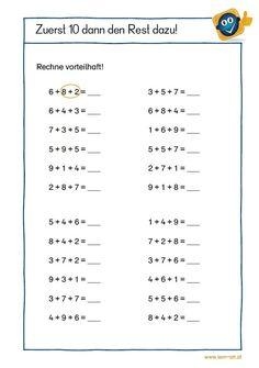 LernMaterialien   Übungsblätter Dyskalkulie 2nd Grade Math Worksheets, Kindergarten Math Activities, School Worksheets, 1st Grade Math, Worksheets For Kids, Math Sheets, Maths Solutions, Math Formulas, Numbers Preschool