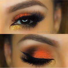 We always are always drawn to the fire  @makeupby_ev21 is keeping us warm this winter with this look incorporating Morphe shadows! Follow her and hashtag your looks #morphegirl