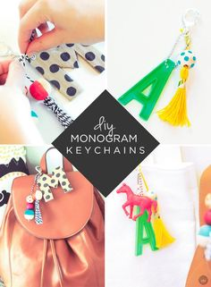Go back to school in style with these DIY Monogram Keychains from  Think.Make.Share, a blog from the Creative Studios at Hallmark. Use this playful craft to adorn your backpack or work tote!
