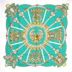 Colour inspiration for decorating - Vintage Hermes Scarf from 1970: Egypte by Cathy Latham