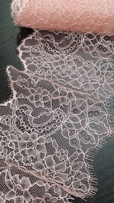 Pink lace Trimming, Chantilly Lace French Lace, Bridal lace, Wedding Lace, Scalloped lace Eyelash lace Floral Lace Lingerie Lace by the yard  Both sides scalloped. Perfect for evening dress, tops, skirts, lingerie, accessories, evening gown making. You can also cut and use separately. Very stunning and elegant!  Article: L89341 Colors: Light pink Style: French  Width: 13 cm, listed for one meter (100 cm x 13 cm) Sold per meters (100 cm x 13 cm) This lace is produced by 2.88 meters long…