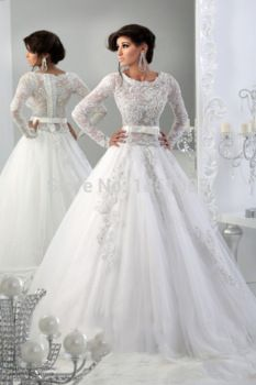 http://www.aliexpress.com/store/product/Elegant-Scoop-Appliqued-A-Line-Long-Sleeve-Tulle-Beaded-Lace-White-Bridal-Gowns-2015-Arabic-muslim/1451095_32279337009.html  Mulim Arabic Wedding dresses,long sleeve bridal gowns