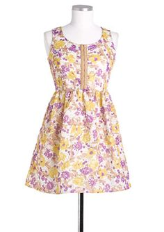 Floral Hook and Eye Dress