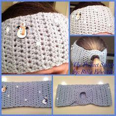 The Perfect Stitch: Snowflake Ponytail Headband/Ear Warmer - free crochet pattern. Crochet Pony, Crochet Socks, Knit Or Crochet, Free Crochet, Crochet Hair Accessories, Crochet Hair Styles, Crochet Headband Pattern, Crochet Patterns, Crochet Headbands