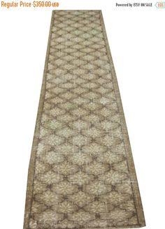 Turkish Vintage Runner Rug With Medallion  320 x 76 cm All hanmade vintage rug made in 1970s. Free shipping.#rug #carpet #vintage #handmade #oushak #anatolian #etsy #etsyshop  #runner