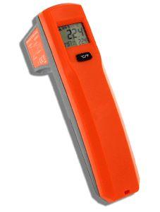 http://www.termometer.se/CIR438-IR-termometer-med-Max-visning-och-DS-81.html  CIR438 IR-termometer med Max-visning och D:S 8:1  CIR438 är en mycket populär IR-termometer med lasersikte som mäter mellan - 35ºC upp till + 365ºC.  Mycket praktisk för mätning av temperatur på heta objekt eller objekt i rörelse på säkert avstånd. Typiska applikationer inom VVS, verkstad, egenkontroll, HACCP, motorsport, etc.  Emissiviteten är förprogrammerad till 0.95, vilket är lämpligt för de flesta...