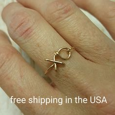 Hey, I found this really awesome Etsy listing at https://www.etsy.com/ru/listing/456846204/rose-gold-ring-xo-free-shipping-filled