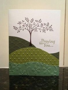 "Handmade Sympathy ""Praying For You"" Card Made With All Stampin' Up Products by alta"