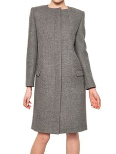 BIRDSEYE VIRGIN WOOL CLOTH COAT
