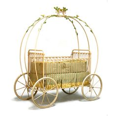 Princess crib for $4,500 SO would not pay this much but I love this idea for my baby girl