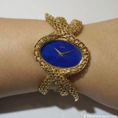 A vintage gold and lapis lazuli large manual winding watch by Piaget | Luxury Watches | Luxury Lifestyle | Inspirations ad News in Boca do Lobo www.bocadolobo.com/en