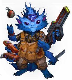 Quonx, du module Skitter Shot de Starfinder Alien Character, Character Concept, Character Art, Character Design, Alien Creatures, Fantasy Creatures, Beast Creature, Alien Concept Art, Star Wars Rpg