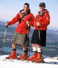 Image result for skiing in a kilt