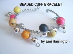http://www.favecrafts.com/Jewelry-Making brings you this jewelry making tutorial.  Learn to make this easy beaded dangle cuff bracelet, with just a few supplies.