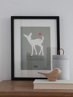 Digitaldruck - Poster Heimat Schwarzwald - ein Designerstück von Heimwerk_Design bei DaWanda