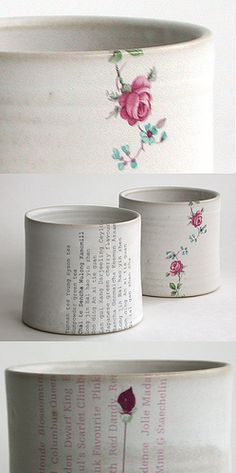 Would love to paint tins like this....    Karin Eriksson ceramics by Something To See, via Flickr
