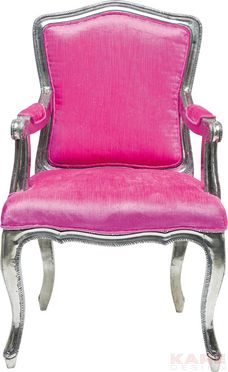 Chair with Armrest Regency Pink