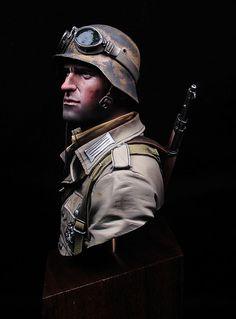 German Panzer grenadier DAK Young Miniatures Painter: David Hernanz