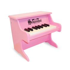 My First Piano! A small toy pink piano that was designed especially for the earliest age player. Once your little one can sit up and starts to explore, they will have an instrument to start playing.