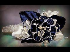Flower Kanzashi Master Class hand made DIY Tutorial Канзаши МК Ободок для Алины - YouTube