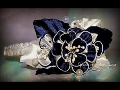 Flower Kanzashi Master Class hand made DIY Tutorial Канзаши МК Ободок для Алины - YouTube
