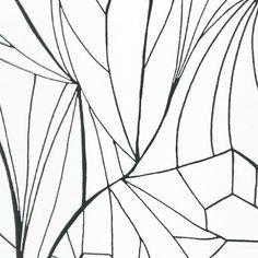 LEAF silver white wallpaper sample
