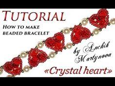 """Tutorial: pulsera de cuentas ❤ """"Corazón de cristal"""" (Día de San Valentín) - YouTube"""