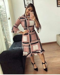 Image may contain: 3 people Indian Fashion Trends, Trend Fashion, African Fashion Dresses, Fashion Outfits, Office Wear Corporate, Color Combinations For Clothes, Hijab Trends, Vintage Party Dresses, Short Dresses