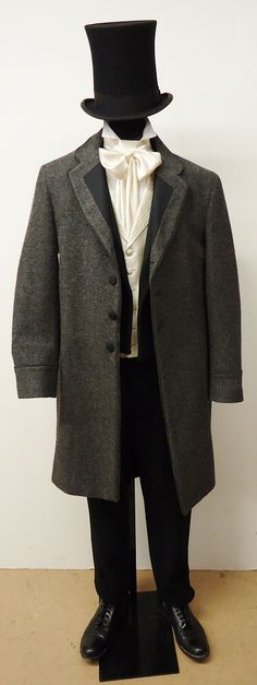 1860's - 1870's Formal - Tail Suit w/ Overcoat