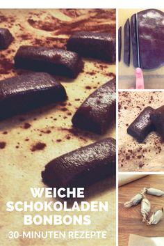 Süßes Trostpflaster, kleiner Seelentröster, Betthupferl - Rezept für weiche Schokoladen-Karamell-Bonbons.