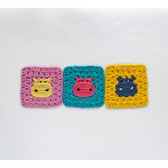 Hippo Granny Square Crochet Pattern. I might need to learn crochet just for this....