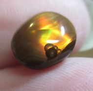 MEXICAN Fire Agate Gemstone Freeform all  Natural Multicolored 8x7