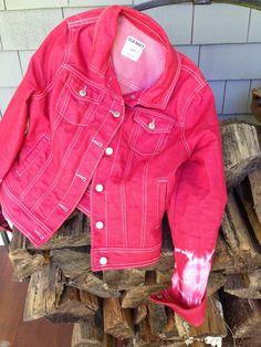 Raging Red Jean Jacket | Rit Fabric Dye Clothing Dyeing