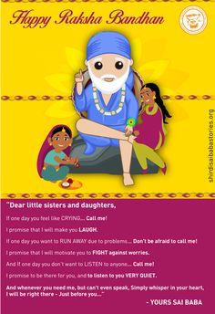 Rakshabandhan With Lord Sai Baba - Free Wallpaper Download - Shirdi Sai Baba…