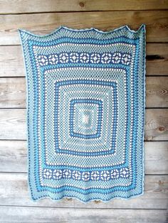 Crochet, cotton blanket by Happy Forms.