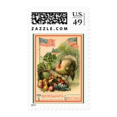 Vintage Patriotic Thanksgiving Medium Postage